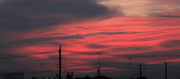 夕景・・・5  夕焼け雲   09:21