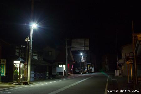 LED街灯のある風景