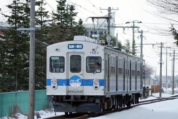 弘南鉄道7000系電車 デハ7023~編成