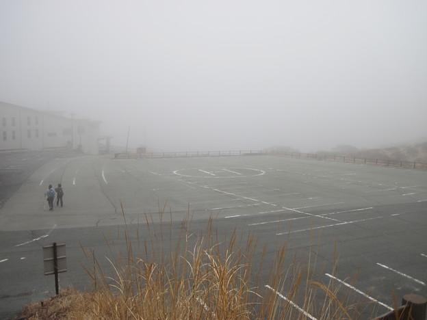 仙酔峡の登山口駐車場に無事下山
