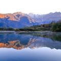 Photos: 早朝の大正池と穂高連峰