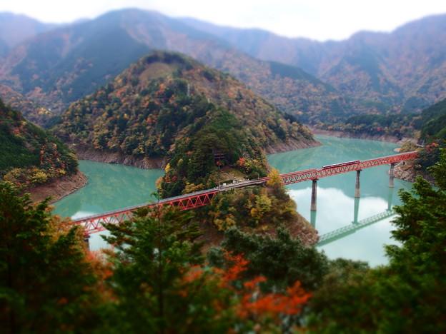 奥大井湖上駅 ジオラマ風