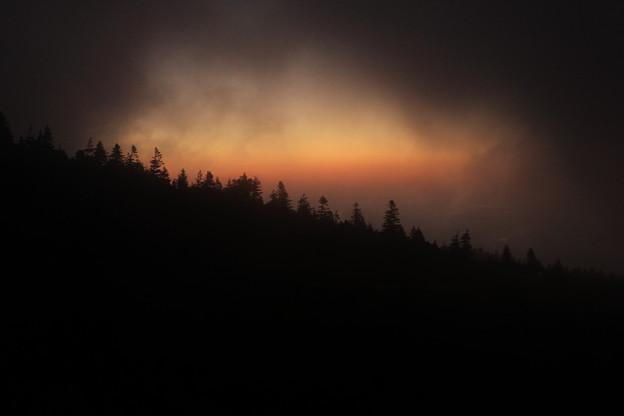 朝霧の向こうに