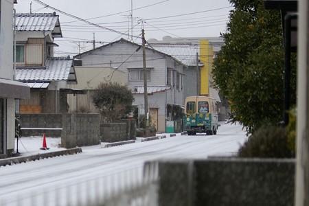 2016年1月24日の寒波襲来、初雪(下関市)
