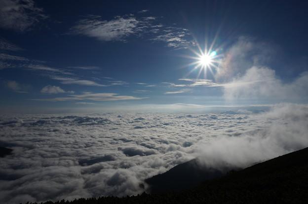 写真: 木曽駒ヶ岳の青