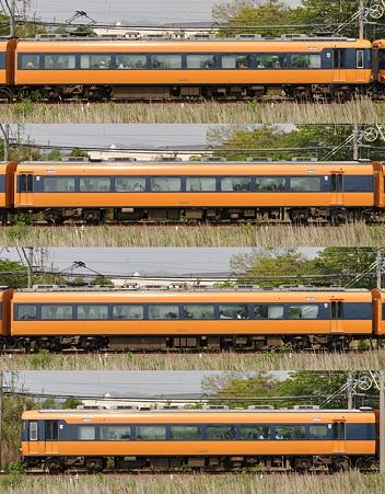 近鉄12200系12237F(NS37)山側側面 2010.05.05