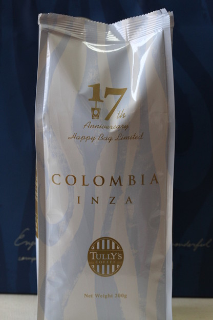 Tully's 17th Anniversary Happy Bag Limited COLOMBIA INZA 袋