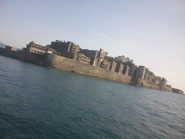 今日のハイライト(?)の世界遺産 端島、通称軍艦島です