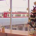 写真: 成田空港へも急ぐサンタ!?
