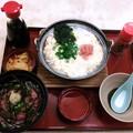 写真: 20160108「ネギトロ丼と明太子とじうどん定食」854円