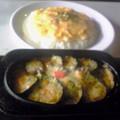 写真: 20110715インド風揚ナスのチーズカレー」860円の「トロたまのせ」150円Up…計1,010円