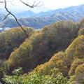 紅葉の山並み