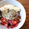 Photos: get my grub on!「Acai Bowl/Acai&Japanese Mustard Spinach&banana&yogurt」ONOLICIOUS!