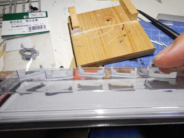 京阪2400 車体修繕+台車通電化工事 スカートを作成するも…