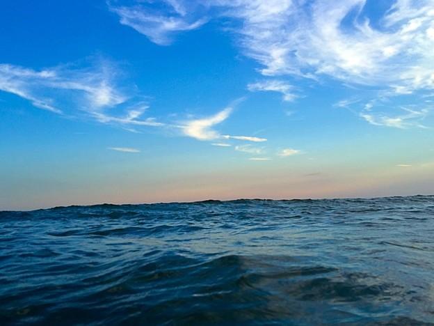 ロングビーチ海の上