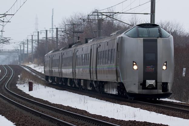 789系スーパーカムイ快速エアポート@島松-北広島