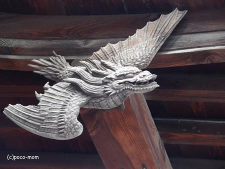 櫛田神社破風飾り 応龍 あるいは 飛龍 神獣 PA110273