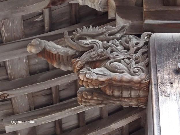 高野山大師教会 破風飾り 木鼻 バク PB020384