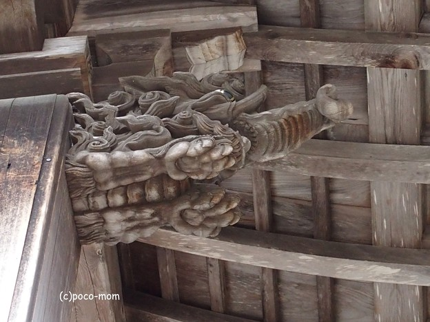 高野山大師教会 破風飾り 木鼻 バク PB020384PB020388