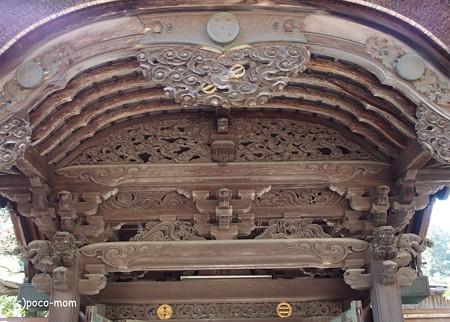 遍照光院 正門から門破風飾り(内側から見たところ) PB030724