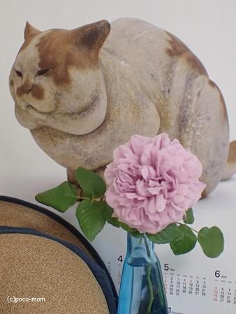 三輪途道カレンダーと藤井製帽の麦帽とルシェルブルーP5081324P5081341