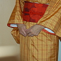 Photos: 紬 黄八丈紬 の 着物