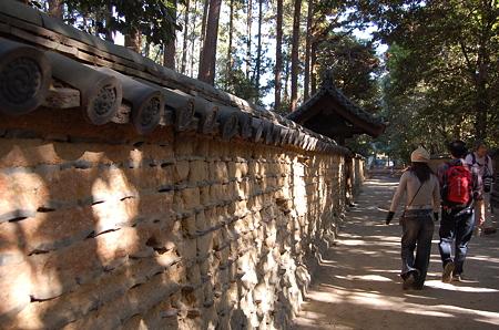 唐招提寺 御廟の築地塀
