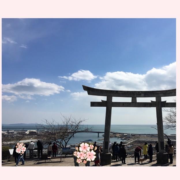 20160311 日和山神社からお墓とお寺へ