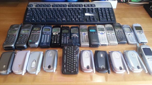 数年前、撮影用にヤフオクで購入した携帯電話