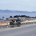 写真: 対岸に下北半島を望む