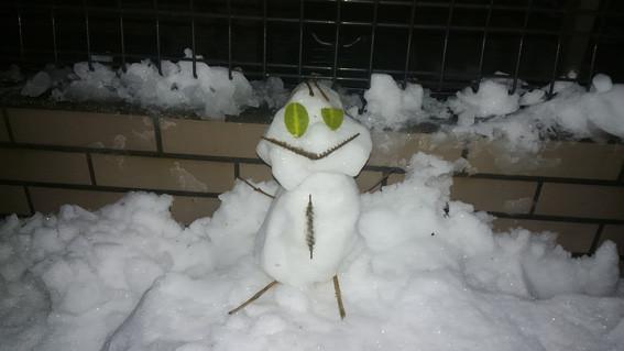 お子さんが作った雪だるま