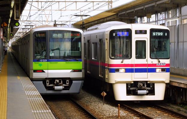 快速KO45橋本 9000系9749F(2827レ)&快速S21本八幡 都営10-300R形10-360F(2826レ)