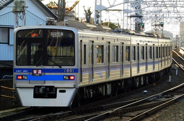 北総7300形7808F 普通KK17羽田空港(1436N)