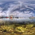 清水港 日の出マリンパーク 360度パノラマ写真 HDR