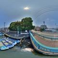 清水区 巴川 港橋 360度パノラマ写真 HDR