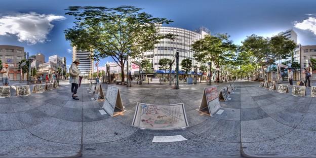 2014年8月6日 青葉シンボルロード 「広島・長崎原爆写真展」 360度パノラマ写真(2) HDR
