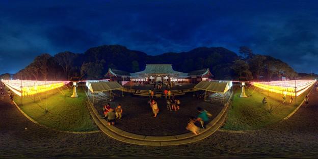 静岡護国神社 みたま祭 360度パノラマ写真(1) HDR