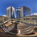 静岡駅南口 ペデストリアンデッキ 360度パノラマ写真 HDR