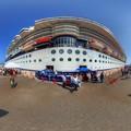 清水港 日の出埠頭 セレブリティミレニアム寄港 360度パノラマ写真(2) HDR