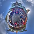 「毘沙門天大祭の日」 富士市吉原 香久山妙法寺 Little Planet(1) HDR