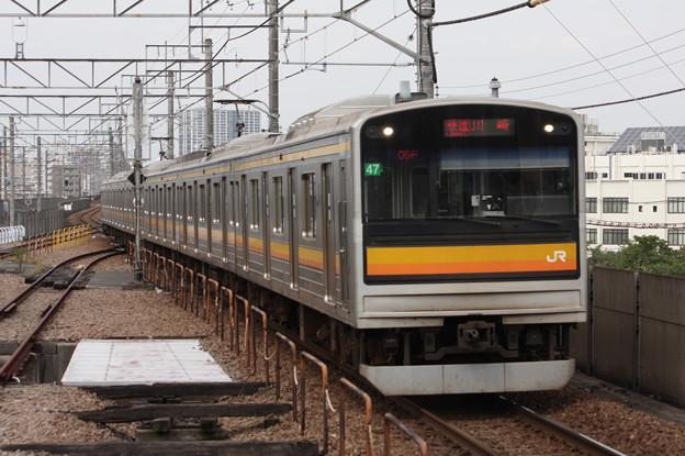 南武線 205系1200番台ナハ47編成 快速川崎行