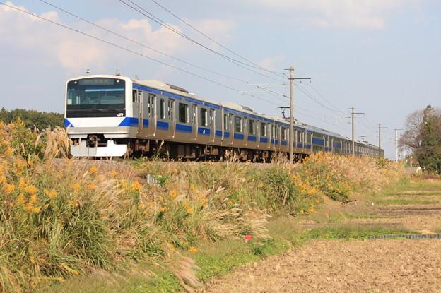 E531系K418編成 1392M 普通上野行