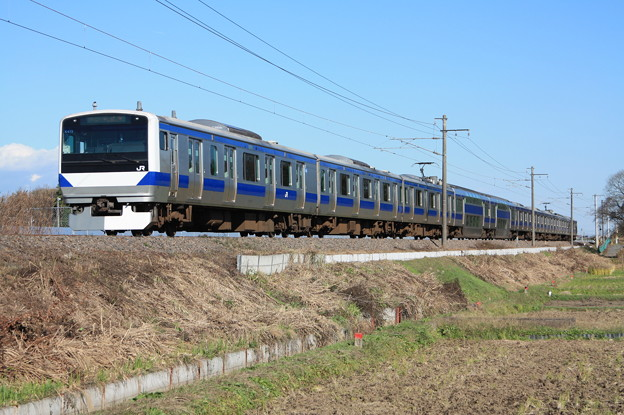常磐線 E531系K415編成 394M 普通上野行
