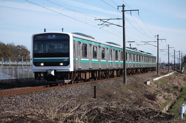 常磐線 E501系K752編成 536M 普通土浦行