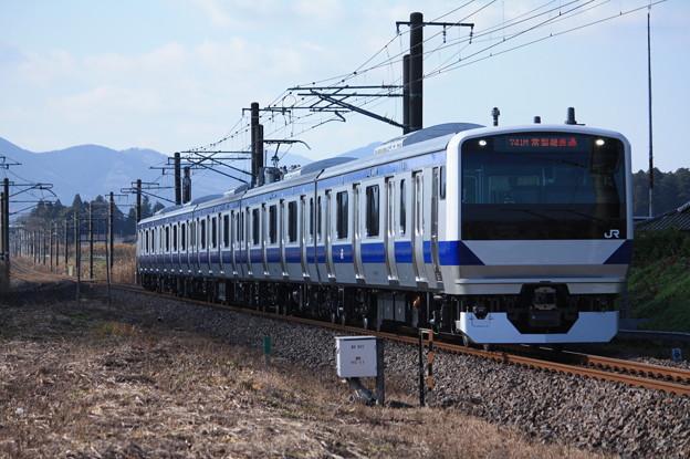 常磐線 E531系3000番台K553編成 741M 普通勝田行