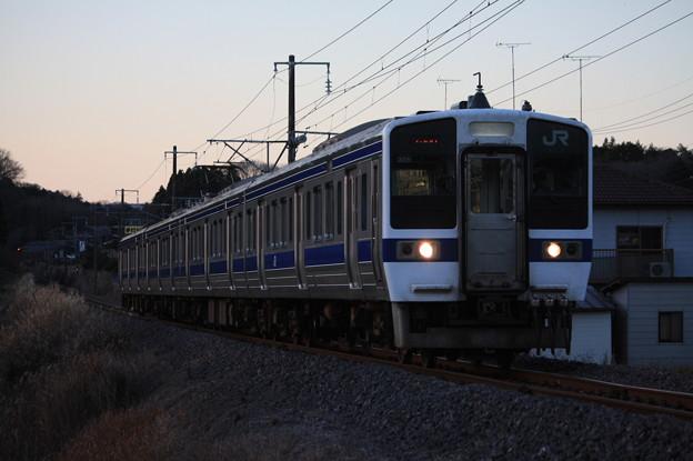 水戸線 415系1500番台K542編成 753M 普通友部行