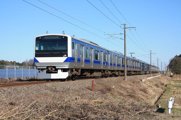 常磐線 E531系K413編成 394M 普通上野行