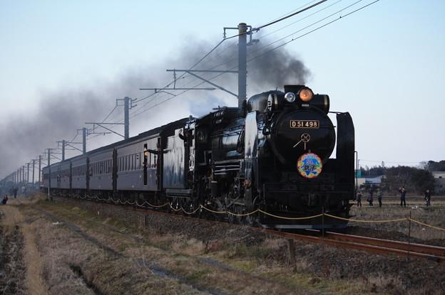 Photos: SL銚子 D51498+旧型客車+DE10 1752 (20)