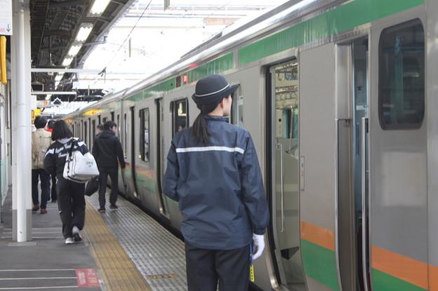 上野東京ラインの女性車掌