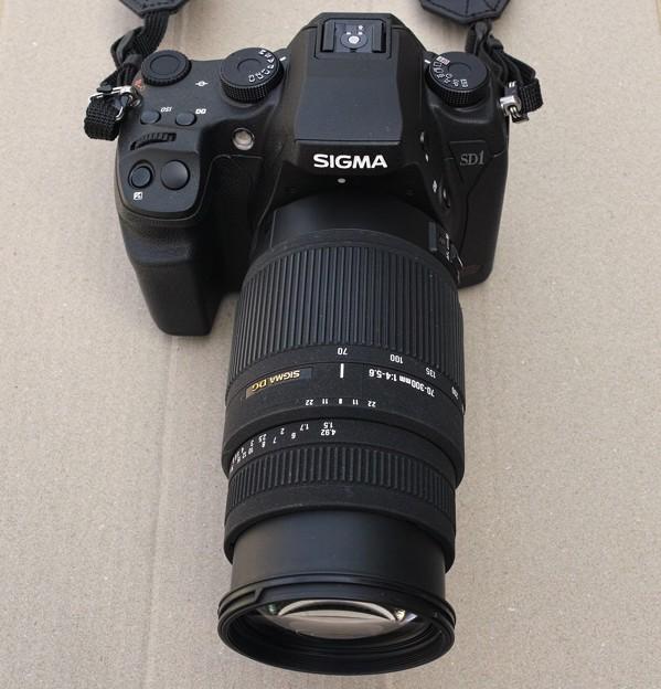 01.SD1 Merrill と 70-300mm F4-5.6 DG OS レンズ